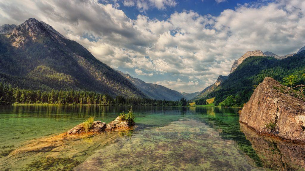 Alpen meer helder water