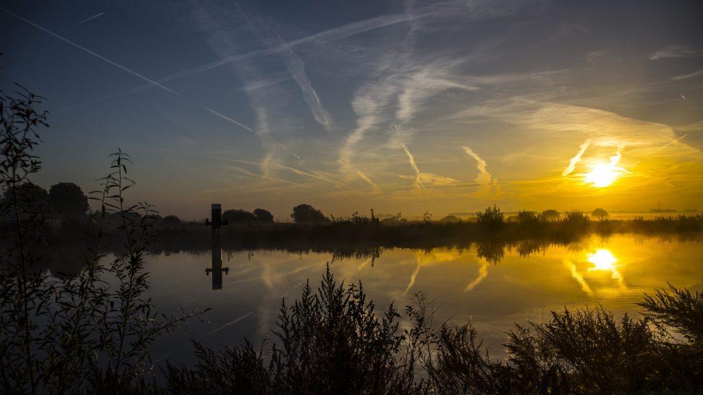 Water landschap uitzicht Nederland polder