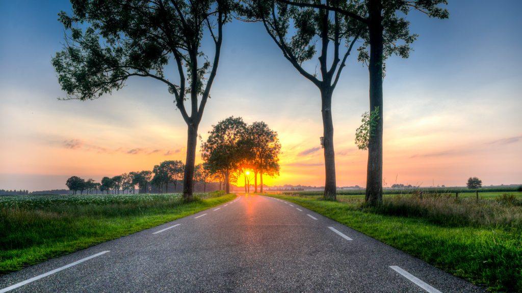 Nederland landschap hdr zonsondergang